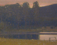 Fall Evening on a Side Channel of the Yellowstone River, Russell Chatham, 1996, Oil on Canvas