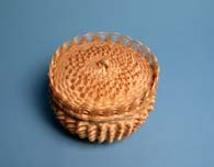 Katie Sickles (Oneida), Covered Basket, Ash