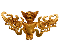 Cast-Gold Bat Effigy Pendants